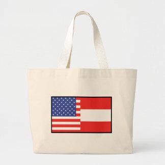America Austria Jumbo Tote Bag