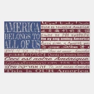 America Belongs to All of Us Sticker