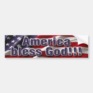 America bless God Bumpersticker Bumper Sticker