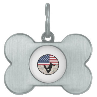 America Boarders Pet Tag