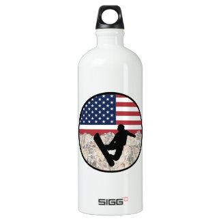 America Boarders Water Bottle