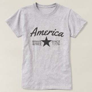 America Brave And Free T-Shirt