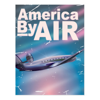 America By Air vintage travel poster Postcards