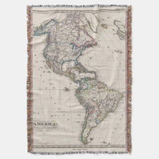 America by Stieler Throw Blanket