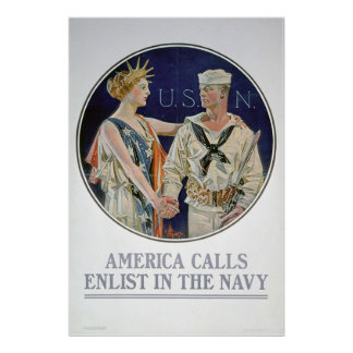 America Calls - Enlist in the Navy (US02285) Poster