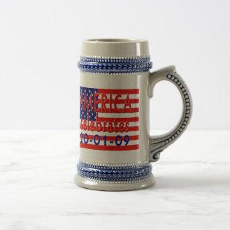 AMERICA  Celebrates US President Obama Presidency Mug