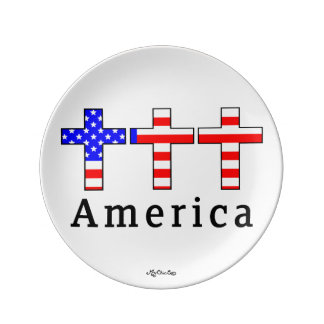 America Christianity! 8.5 PLATE Porcelain Plate