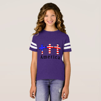 America Christianity! PURPLE ATHLETIC TEAM SHIRT! T-Shirt