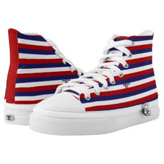 America Colors Flag Designer Modern Shoes