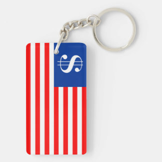 america country dollar symbol flag united states u key ring