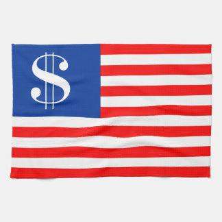 america country dollar symbol flag united states u tea towel
