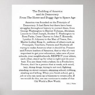 America Democracy Poster