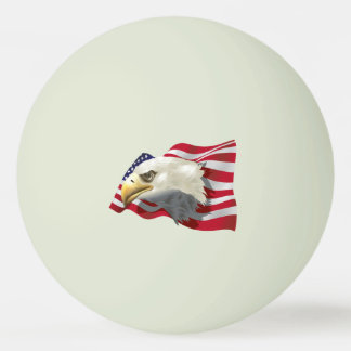 America Eagle Flag Glow In The Dark Ping Pong Ball