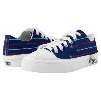 America Fighter Jet Red white and blue Low Tops