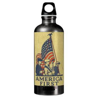 America First American Flag Patriots Vintage Text SIGG Traveller 0.6L Water Bottle