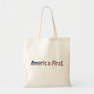 America First American Flag Typography Patriotic