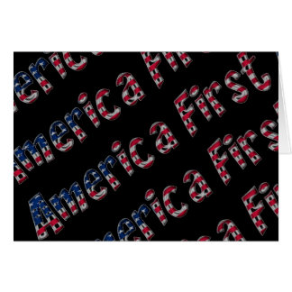 America First American Flag Typography Patriotic Card