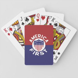 AMERICA FIRST! Classic Patriotic Awesome Political Playing Cards