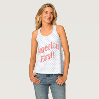 """""""America First"""" Inauguration Quote Typography Singlet"""
