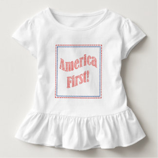 """America First"" Inauguration Quote Typography Toddler T-Shirt"