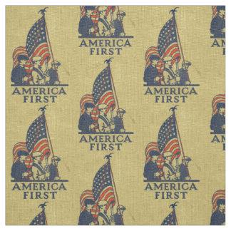 America First Patriots American Flag Vintage USA Fabric