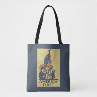 America First Patriots American Flag Vintage USA Tote Bag