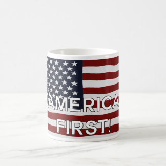 America First US Flag Coffee Mug