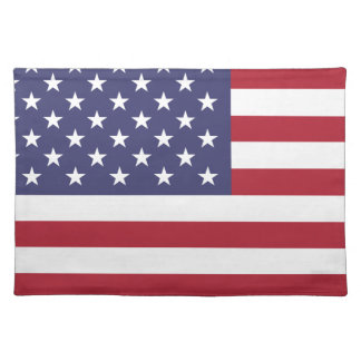 America flag all over design placemat