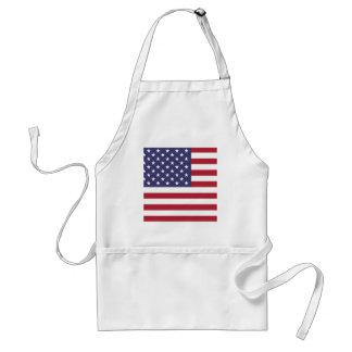 America flag all over design standard apron