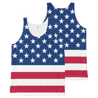 America flag American USA All-Over Print Singlet