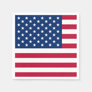 America flag American USA Disposable Napkins