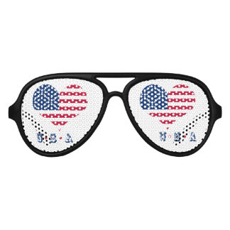 America flag American USA heart Aviator Sunglasses