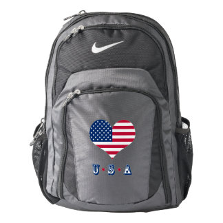 America flag American USA heart Backpack