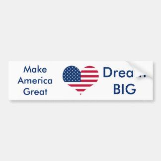 America flag American USA heart Bumper Sticker