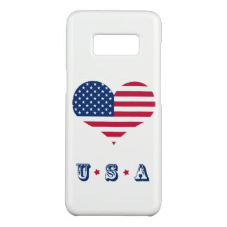 America flag American USA heart Case-Mate Samsung Galaxy S8 Case