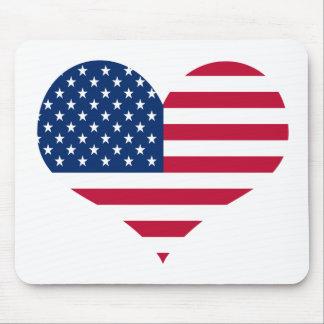 America flag American USA heart Mouse Pad