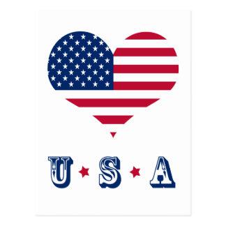America flag American USA heart Postcard