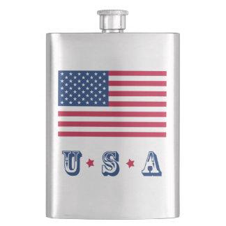 America flag American USA Hip Flask