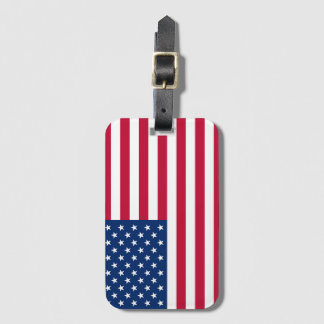 America flag American USA Luggage Tag