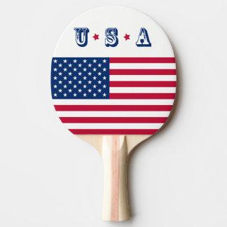 America flag American USA Ping Pong Paddle