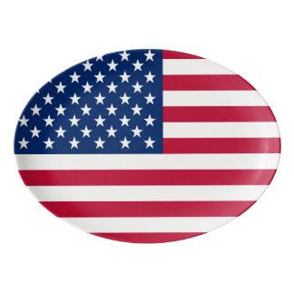 America flag American USA Porcelain Serving Platter