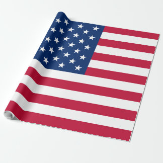 America flag American USA Wrapping Paper