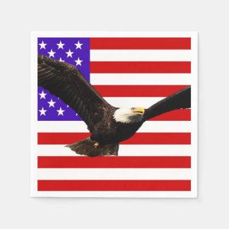 America flag Bald Eagle USA Disposable Serviette