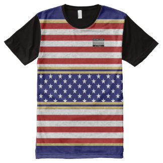 America Flag Colors Homeland Attires Kids T-Shirt