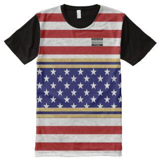 America Flag Colours Homeland Attires T-Shirt All-Over Print T-Shirt