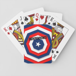 America Flag Design Playing Cards