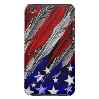 America Flag feather I touch holder iPod Touch Covers