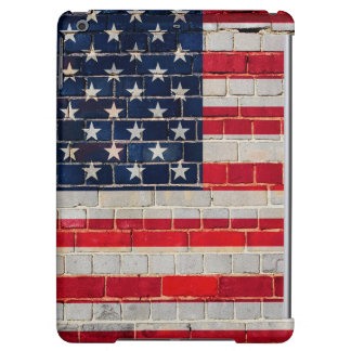 America flag on a brick wall iPad air case