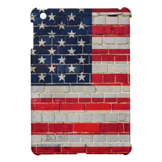 America flag on a brick wall iPad mini cover