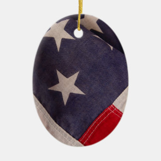 America flag oval ornament